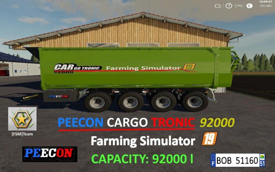 FS19 FSM Peecon Cargo92000 v1.0.0.1 FS19