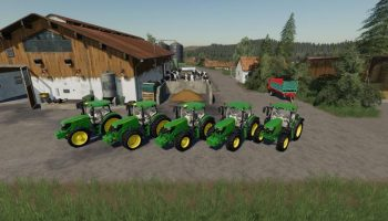 John Deere 6125 v1.2.0.0 FS19 для Farming Simulator 2019