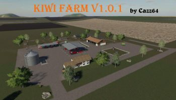 Kiwi Farm Starter map 4x v1.0.1 FS19 для Farming Simulator 2019