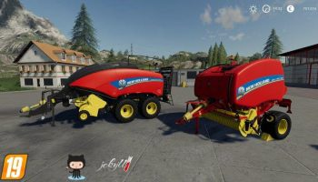 New HOLLAND BALER USA PACK для Farming Simulator 2019