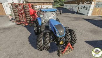 New Holland T7 V1.0 FS19 для Farming Simulator 2019