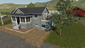 Placeable house with sleep trigger v1.0 FS19 для Farming Simulator 2019