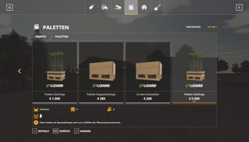 Seedling pallet with 100 pieces v1.0.1 FS19 для Farming Simulator 2019