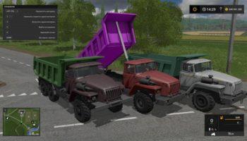 Самосвал, грузовик и трактор для Farming Simulator 2017