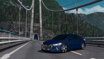 Hyundai Elantra 2017 для Euro Truck Simulator 2