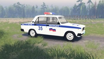 ВАЗ 2105 Полиция для Spin Tires