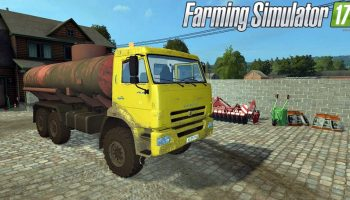 КамАЗ бензовоз для Farming Simulator 2017