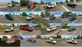 Трафик российских автомобилей v2.3 для Euro Truck Simulator 2