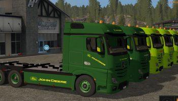 Mercedes Benz Actros Pack для Farming Simulator 2017