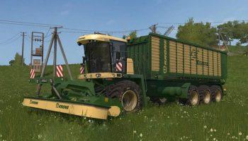 Krone Big-ZX550 для Farming Simulator 2017
