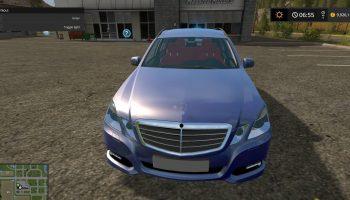 Mercedes E350 Blue V для Farming Simulator 2017