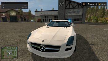 Mercedes SLS AMG V для Farming Simulator 2017