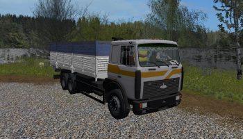 МАЗ-6303 + прицеп v1.3 для Farming Simulator 2017