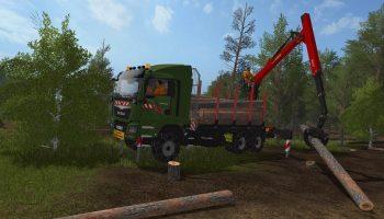 MAN TGS 41480 6X4 Palfinger Grumier для Farming Simulator 2017