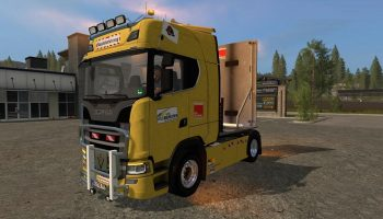 Scania S580 V8 для Farming Simulator 2017