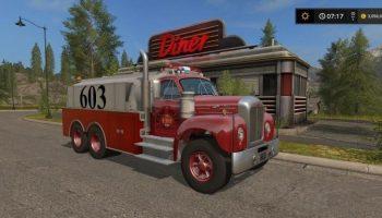 Mack B61 Tanker v 1.0 для Farming Simulator 2017
