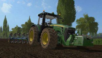 John Deere 8R v 1.1.2.5 для Farming Simulator 2017