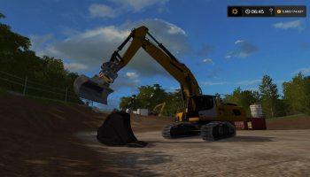 BUCKET FOR VOLVO EC300E ATTACHER V1.0 для Farming Simulator 2017