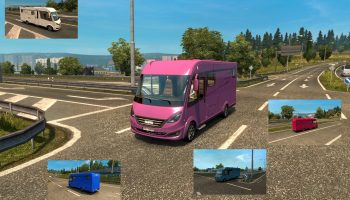 HYMER B-CLASS SUPREMELINE IN TRAFFIC для Euro Truck Simulator 2