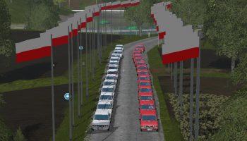 POLISH FLAG для Farming Simulator 2017