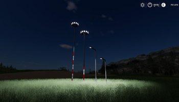 PLACEABLE LIGHT PACK для Farming Simulator 2019
