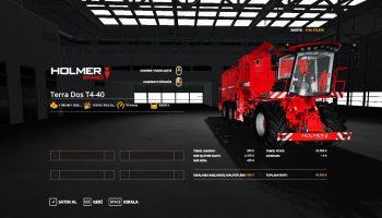 Комбайн Holmer TerraDos T4-40 v1.0 для Farming Simulator 2019