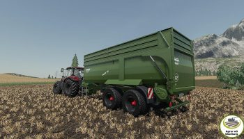 Трейлер Krampe Bandit 750 v1.0 для Farming Simulator 2019