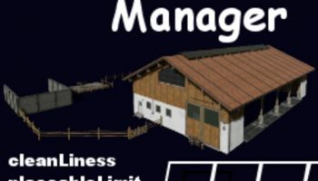 ANIMALSMANAGER V0.4 BETA FS19 для Farming Simulator 2019