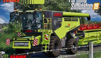 Claas Lexion 795 Monster Limited Edition v2.0 FS19 для Farming Simulator 2019