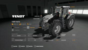 Fendt 1000 Vario v1.0.0.2 FS19 для Farming Simulator 2019