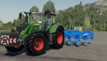 Культиватор LEMKEN SMARAGD 9 v1.0 для Farming Simulator 2019