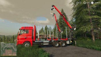 MAN FORST LKW v1.2.2.0 FS19 для Farming Simulator 2019
