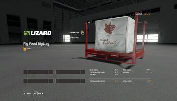Pig food 40,000 lbs v1.0.0.4 FS19 для Farming Simulator 2019