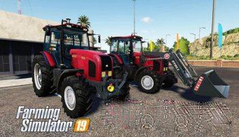 Belarus MTZ-2022 V Tractor v1.3.1 для Farming Simulator 2019
