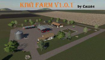 Kiwi Farm Starter map 4x v1.0.1 FS19 для Farming Simulator 2019